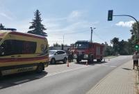 Wypadek w Zdziechowie! Motocyklista zderzył się z samochodem osobowym!