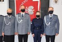 Ślubowanie nowo przyjętej policjantki