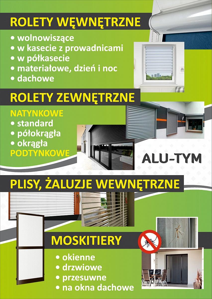 Rolety wewnętrzne i moskitiery tylko od ALU-TYM