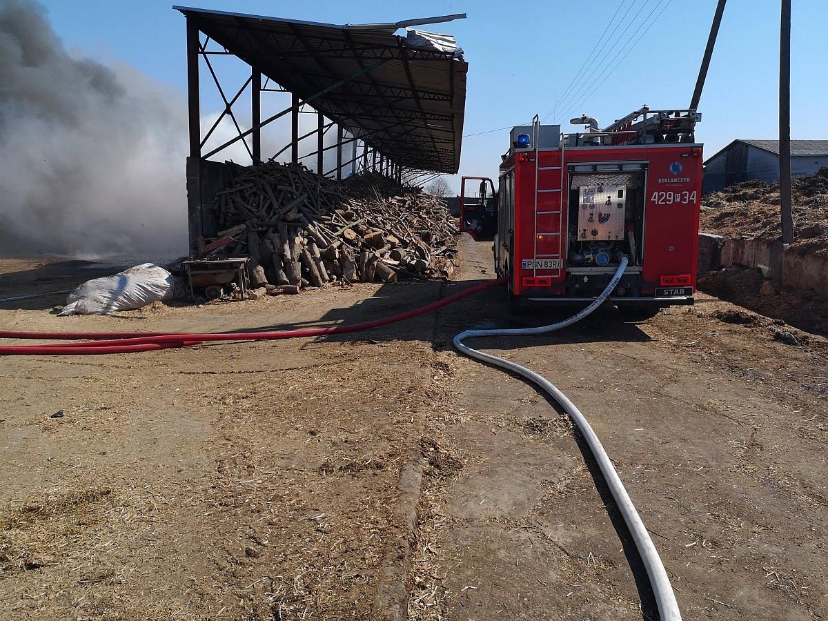 Pożar na terenie gospodarstwa w Gorzuchowie