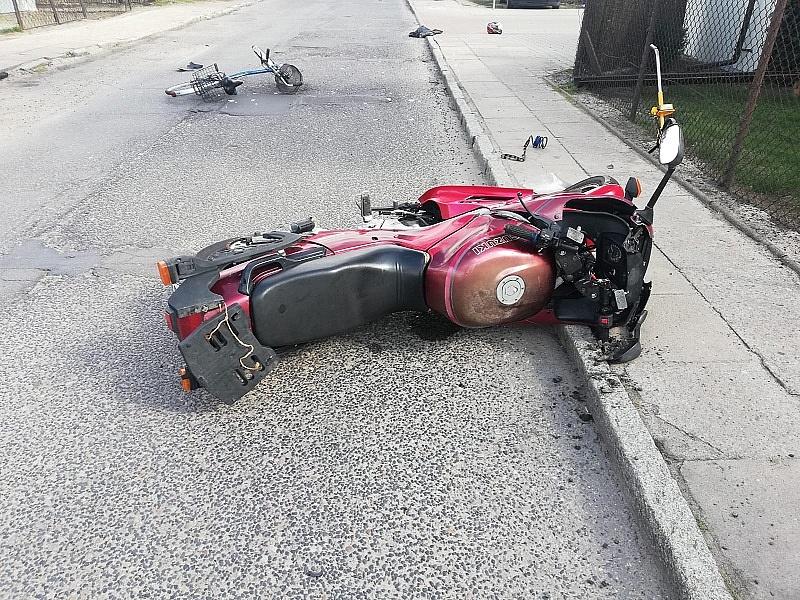Poszukiwani świadkowie zderzenia rowerzystki z motocyklistą