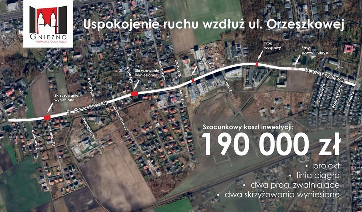 Uspokojenie ruchu wzdłuż ul. Orzeszkowej