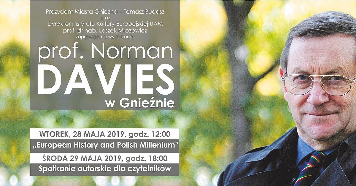 Profesor Norman Davies spotka się z gnieźnianami