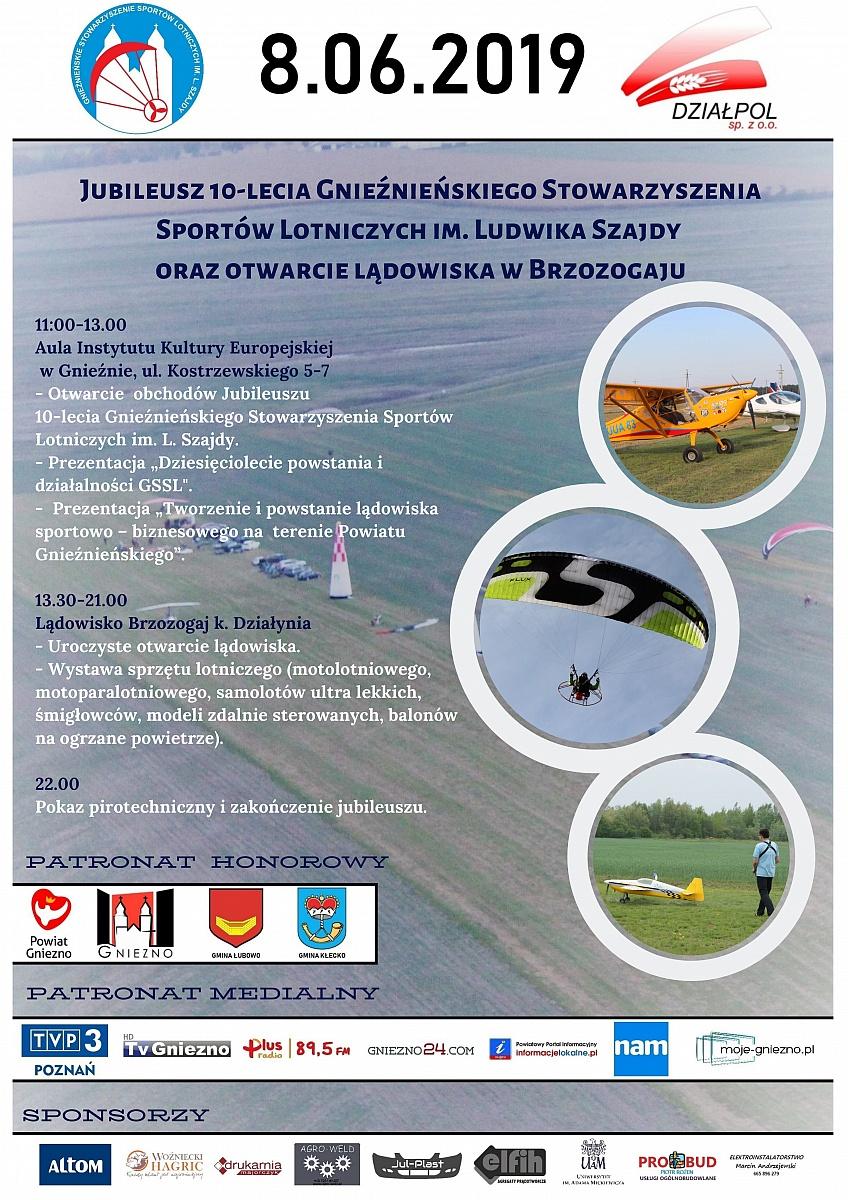 10-lecie GSSL i otwarcie lądowiska na terenie powiatu gnieźnieńskiego
