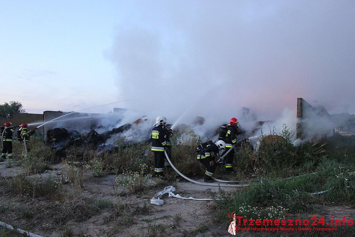 Pożar nielegalnego wysypiska w Kamieńcu! Dym może być toksyczny