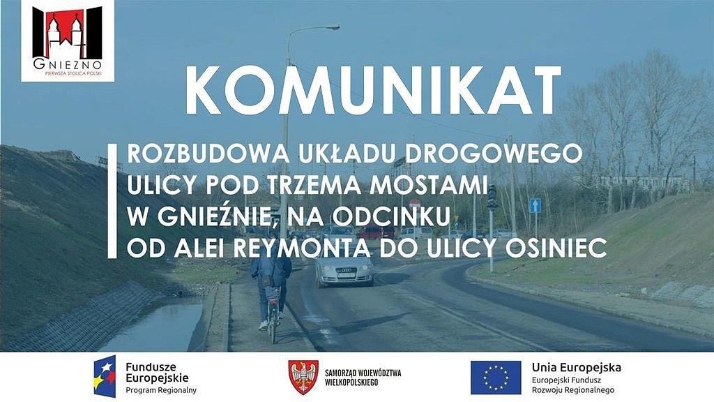 Komunikat dotyczący prac nocnych przy ul. Pod Trzema Mostami
