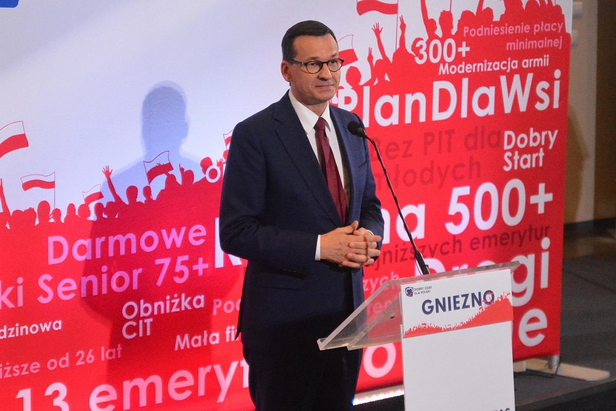 Premier Mateusz Morawiecki odwiedził Gniezno