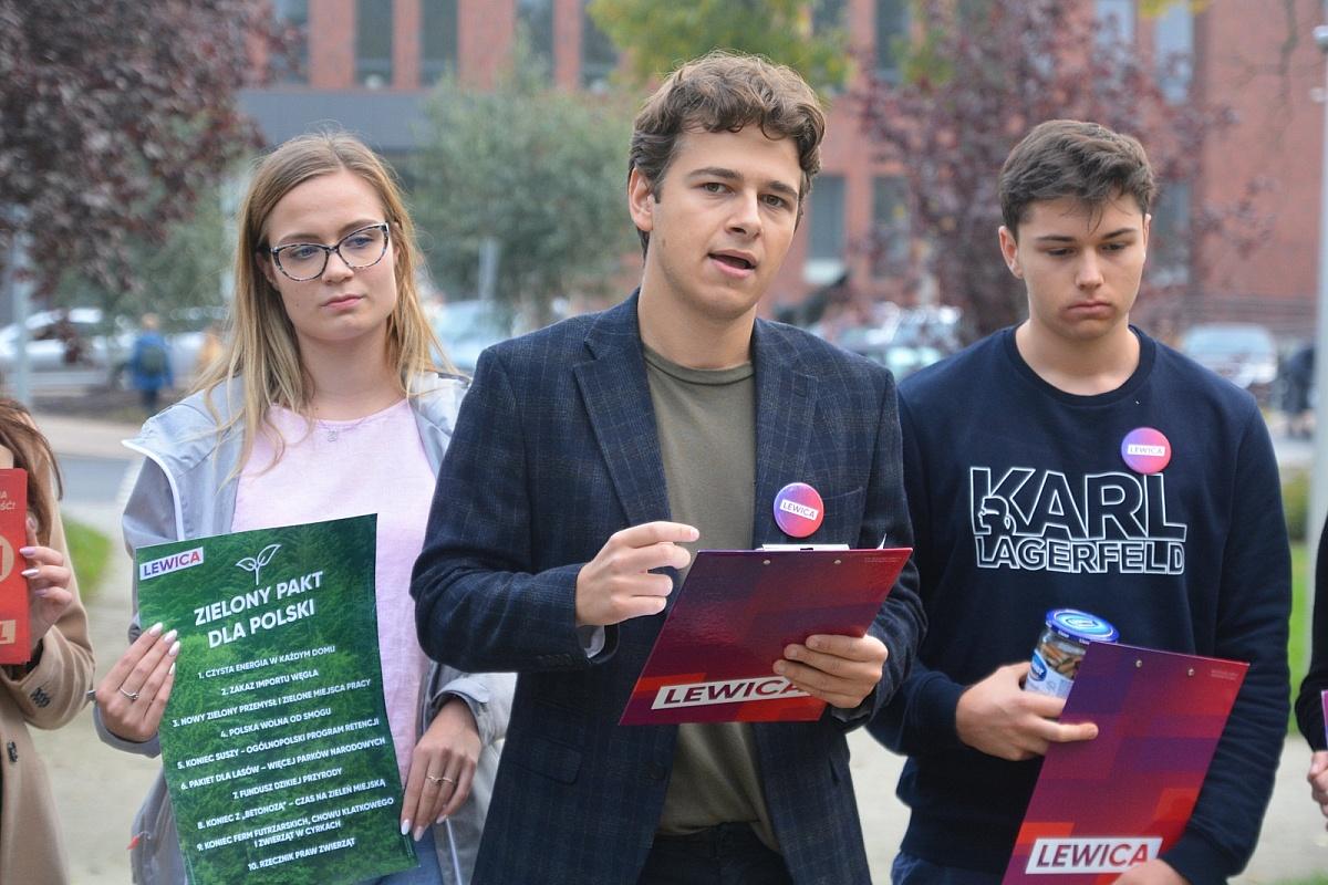 Kacper Parol - najmłodszy kandydat na posła zaprezentował swój program