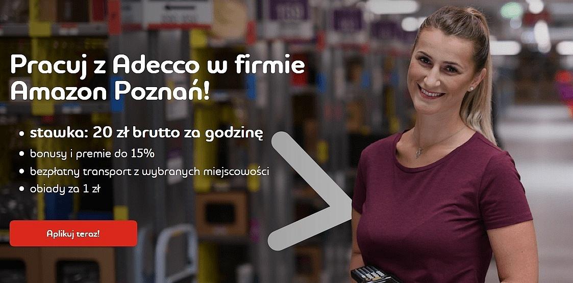 Pracuj z Adecco w firmie Amazon Poznań