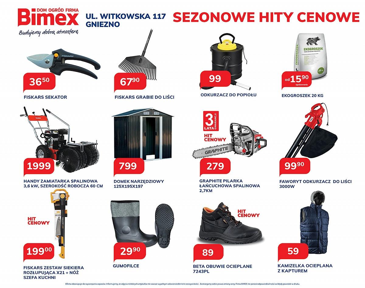 Sezonowe hity cenowe w sklepach BIMEX!