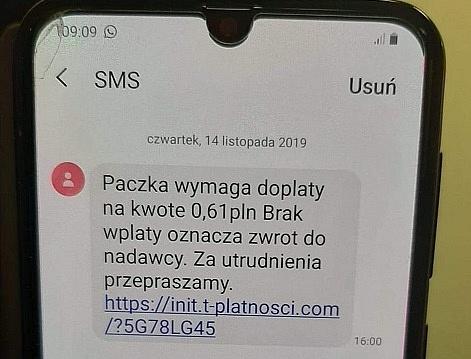 Uwaga na fałszywe SMS-y zawierające linki do dokonania płatności