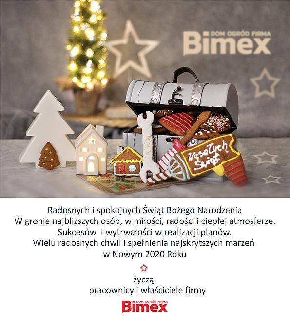 Życzenia świąteczne od firmy BIMEX