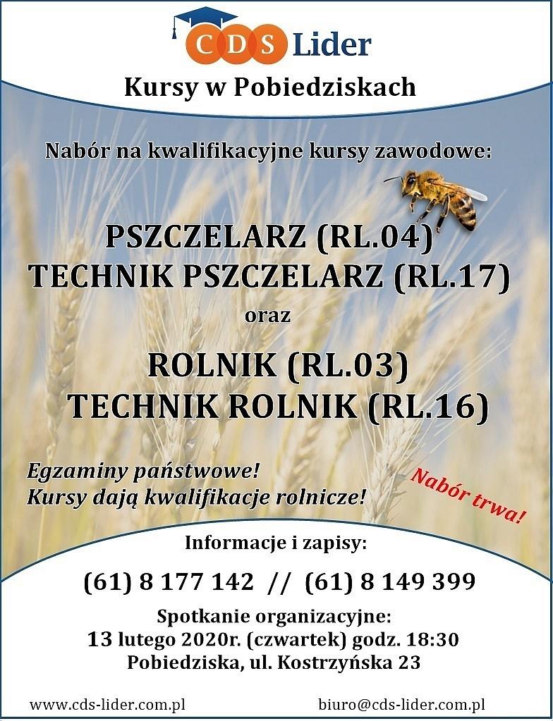 Nabór na kursy pszczelarskie i rolnicze!