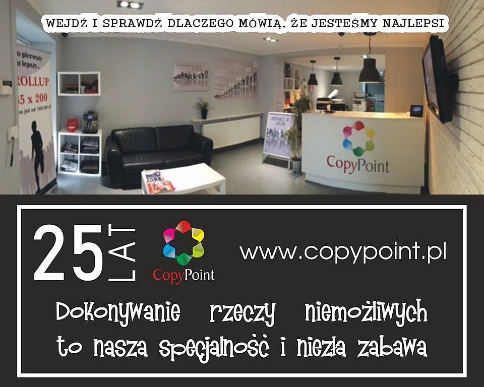 CopyPoint - producent reklam i drukarnia! Szybko, solidnie i w rozsądnej cenie!