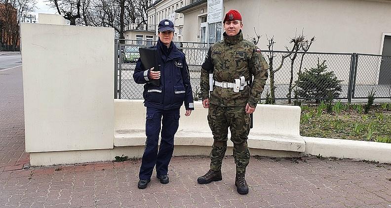 Wspólne patrole - policjant i żołnierz
