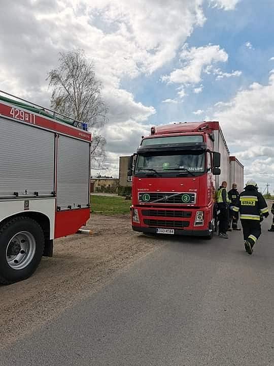 Pożar cieżarówki