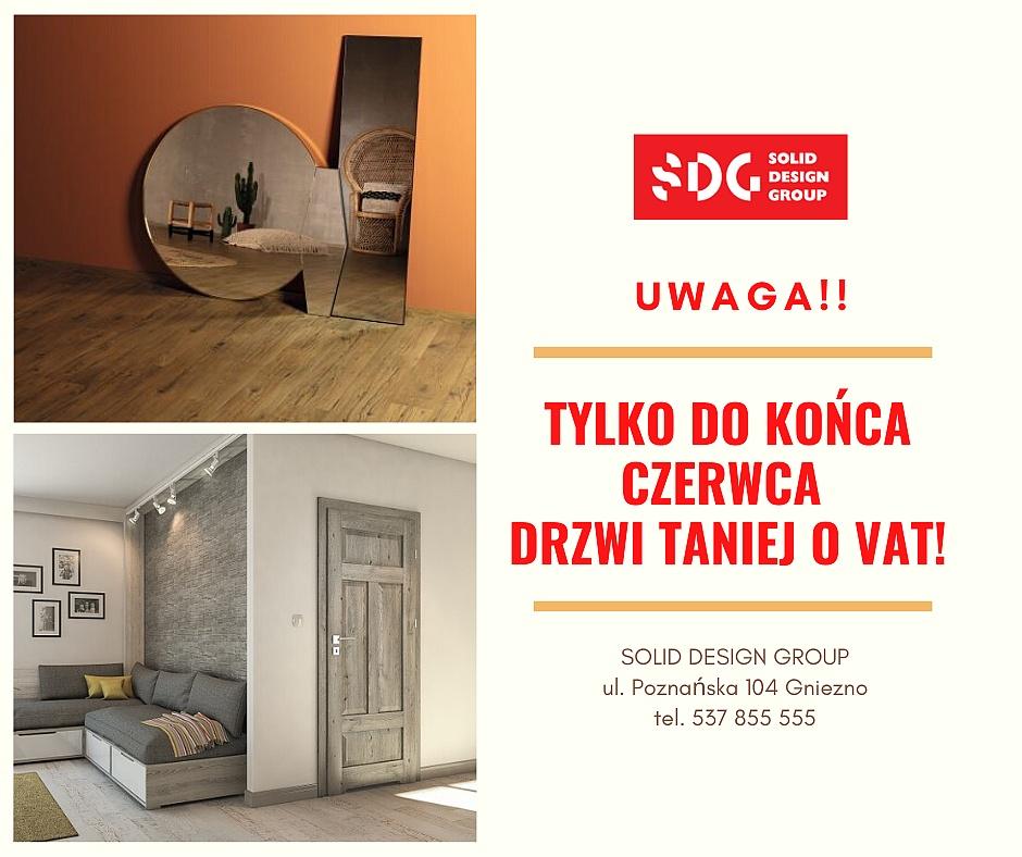 Tylko do końca czerwca drzwi taniej o VAT w Solid Design Group
