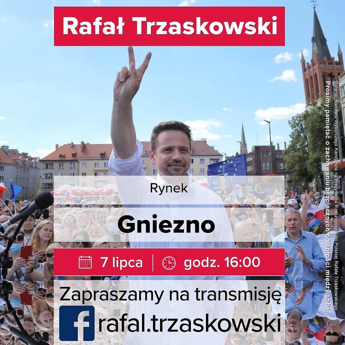Rafał Trzaskowski odwiedzi Gniezno