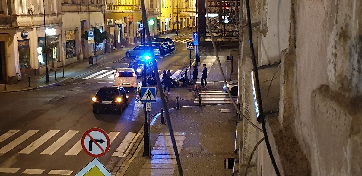 Wypadek motocyklisty na ul. Warszawskiej