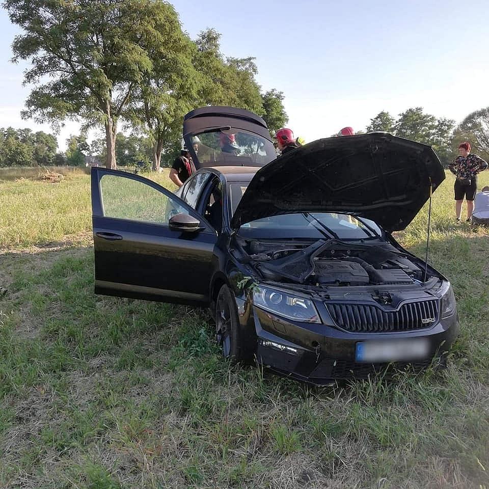 Wypadek w Skorzęcinie! Kobieta zasłabła za kierownicą!
