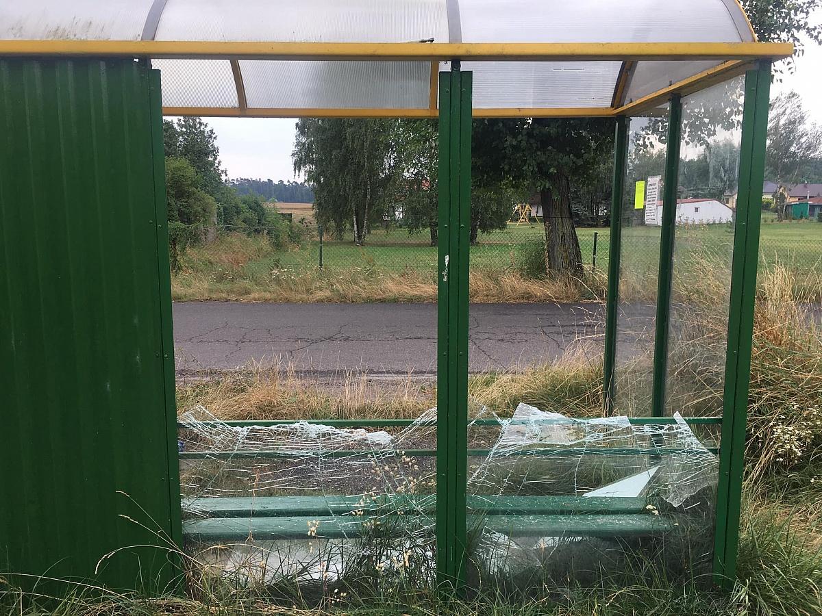 Wandale zniszczyli przystanek we wsi Osiniec! Nagrał ich jeden z mieszkańców