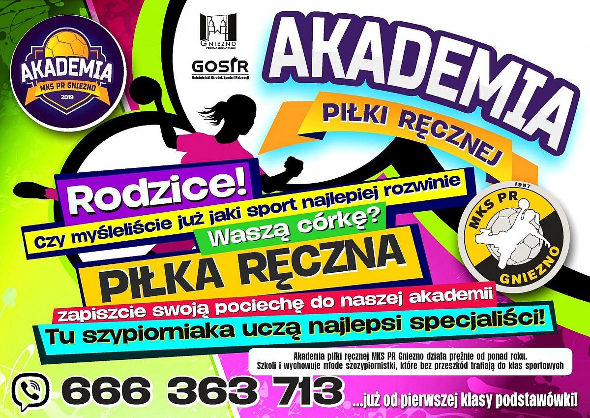 Akademia Piłki Ręcznej MKS PR Gniezno ogłasza nowy nabór!