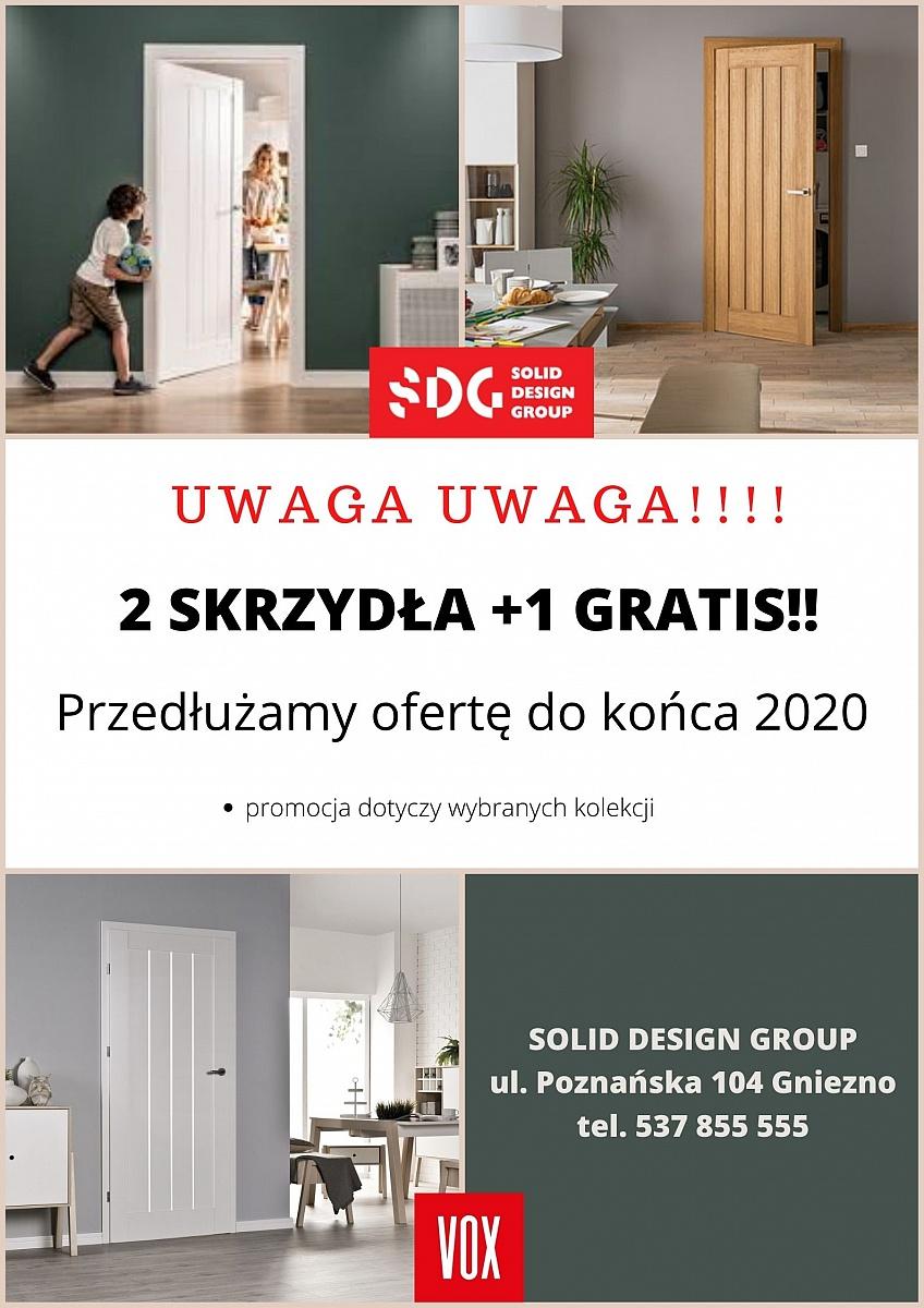 Grudniowa promocja w Solid Design Group! 2 skrzydła drzwiowe + 1 gratis!