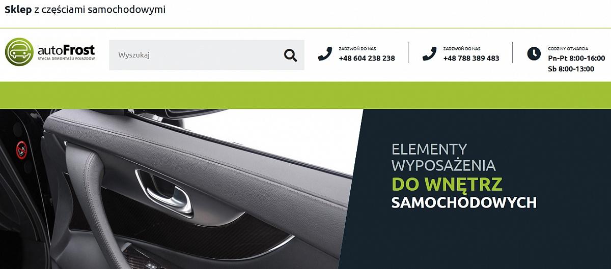 Stacja demontażu pojazdów AutoFrost - nie przepłacaj za części do Twojego auta!