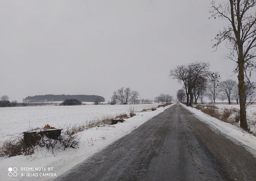 Trwa przebudowa drogi z Witkowa do Malenina