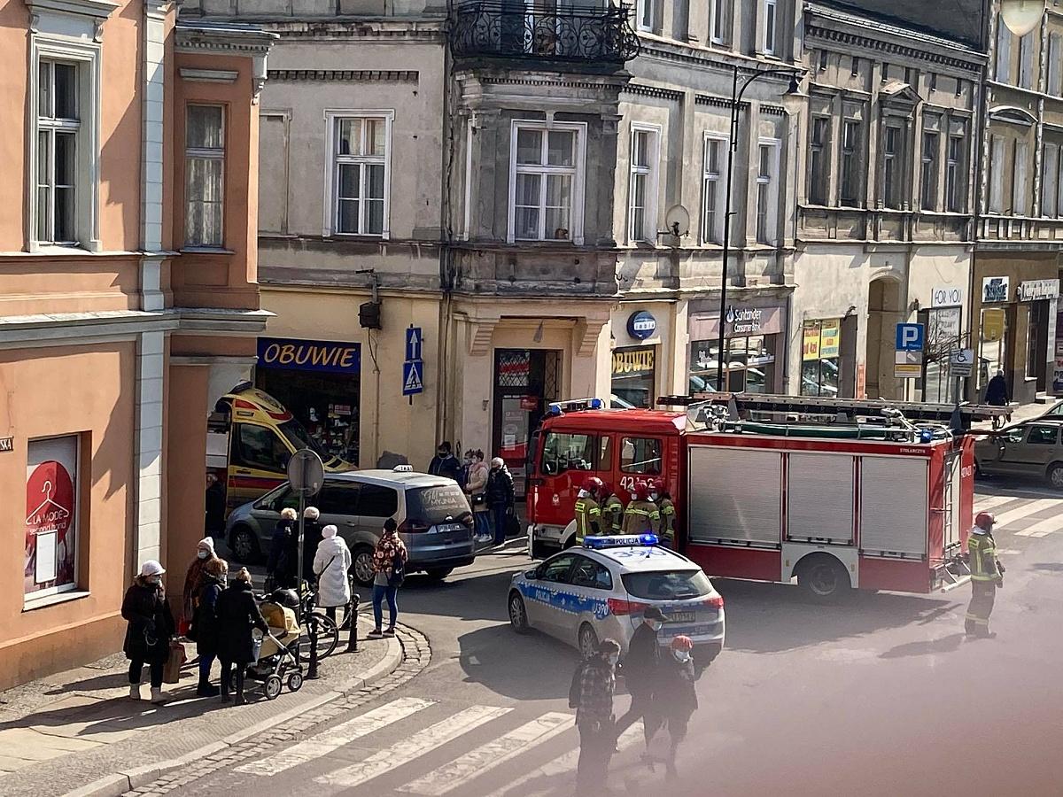 Potrącenie pieszej w centrum Gniezna