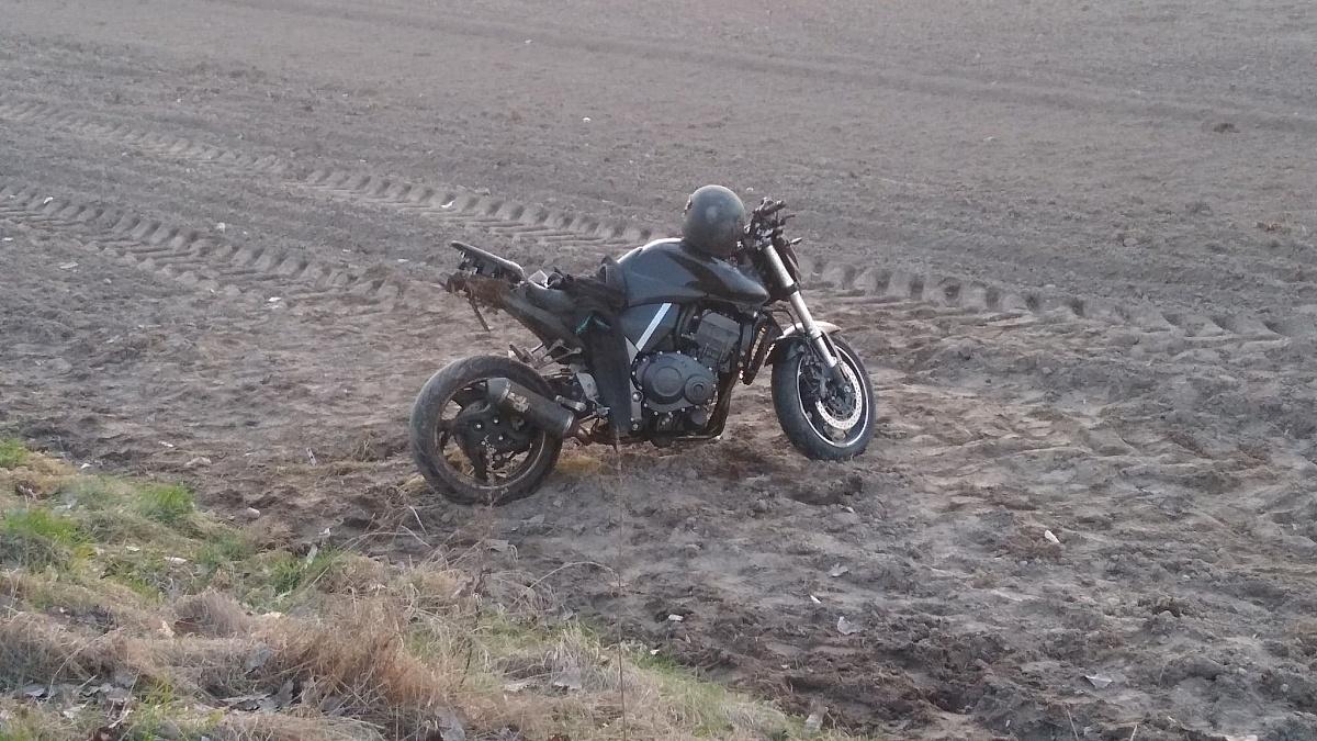 Wypadek motocyklisty w Jankówku!