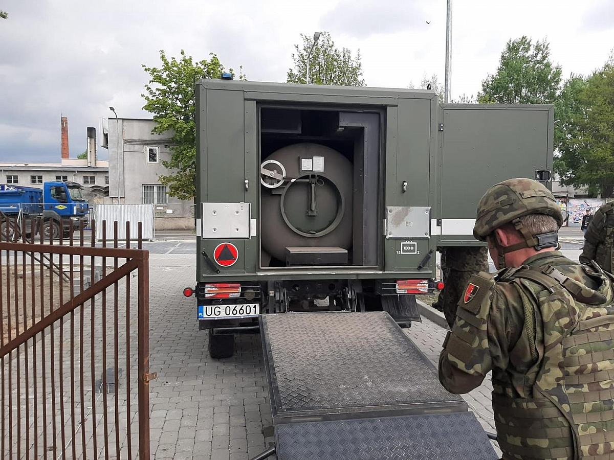 Przy dworcu w Gnieźnie znaleziono niewybuch