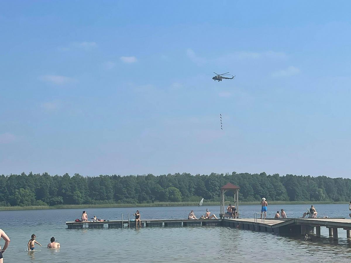 Ćwiczenia na Jeziorze Powidzkim