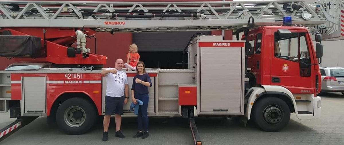 Podziękował strażakom za uratowanie życia!