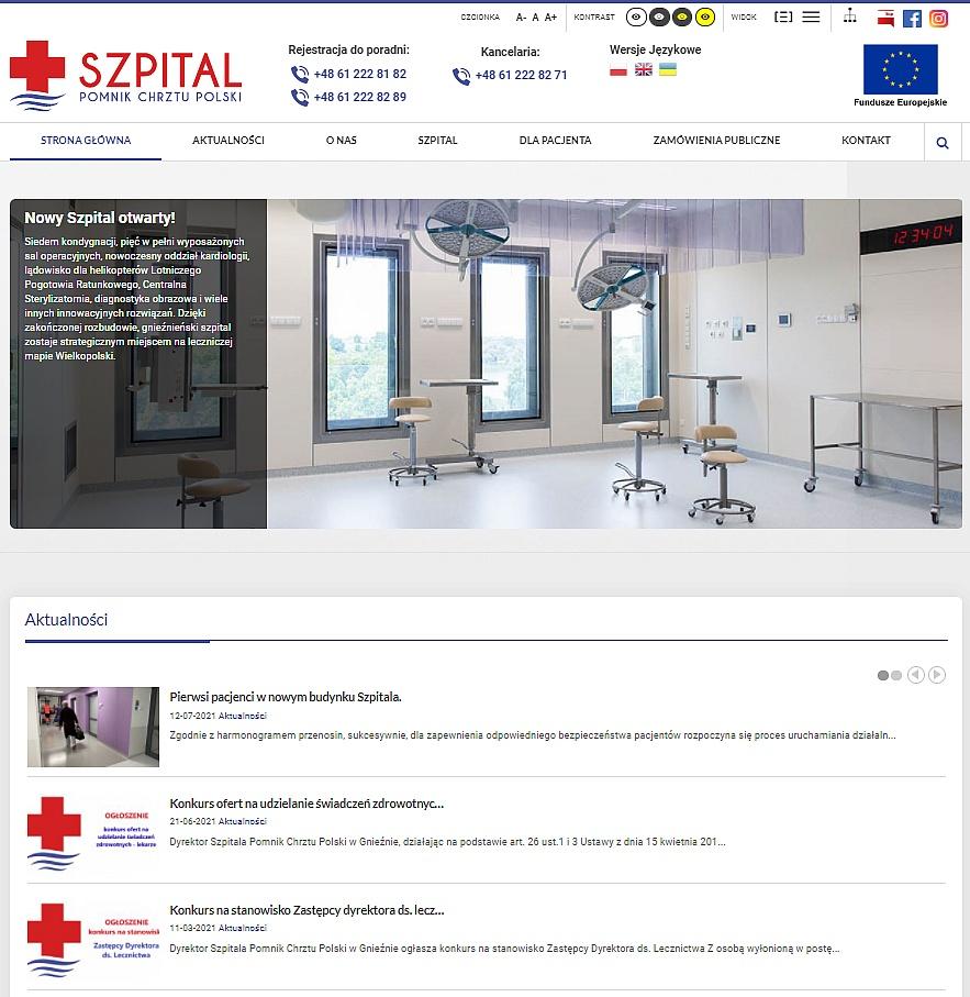 Nowa strona internetowa szpitala