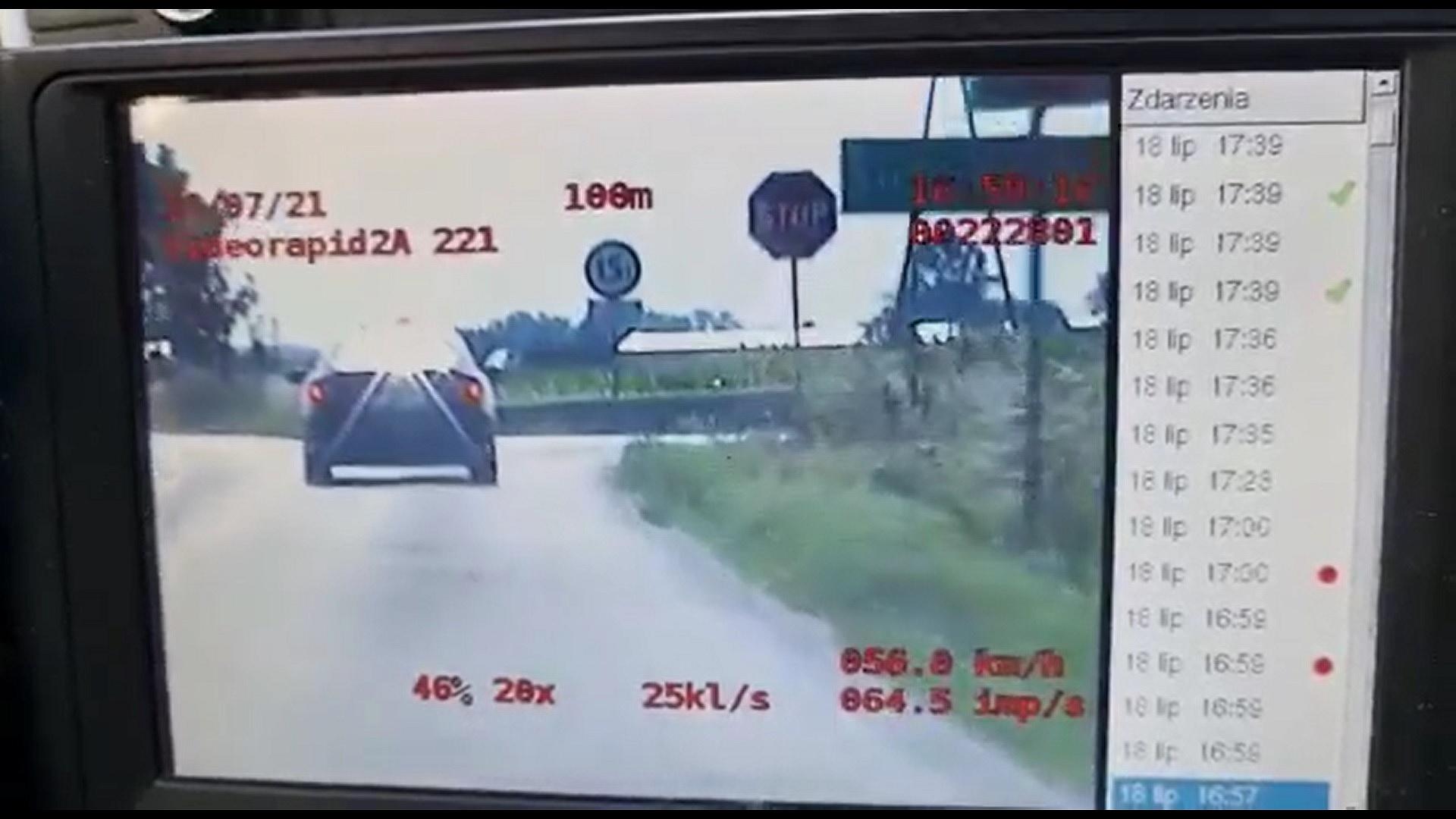 Kierowca Hondy zignorował znak STOP i od razu tego pożałował