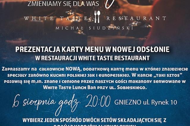 Kolcja Degustacyjna w nowym punkcie White Taste! Ilość miejsc ograniczona!