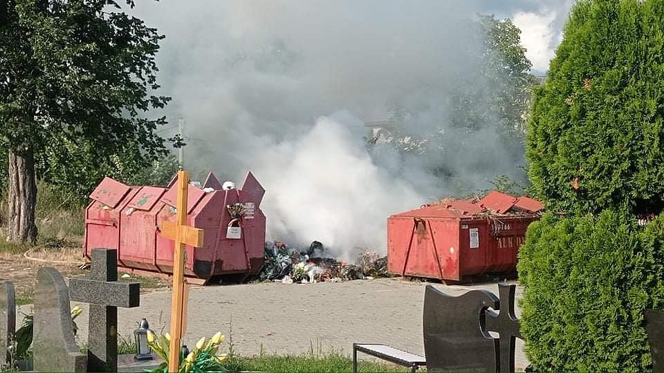 Kolejne pożary! Płonęły pola i śmietnik przy cmenatrzu