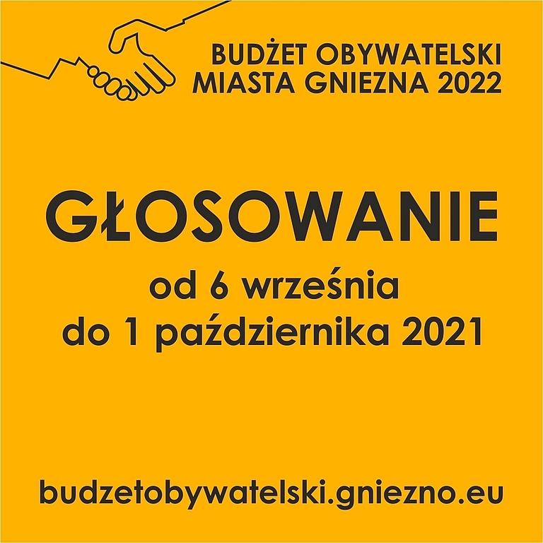 Rusza głosowanie Budżetu Obywatelskiego Miasta Gniezna na 2022 rok!