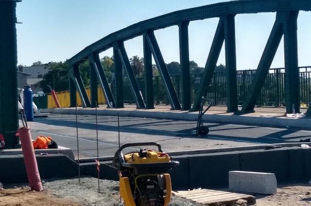 Postęp prac remontowanego wiaduktu