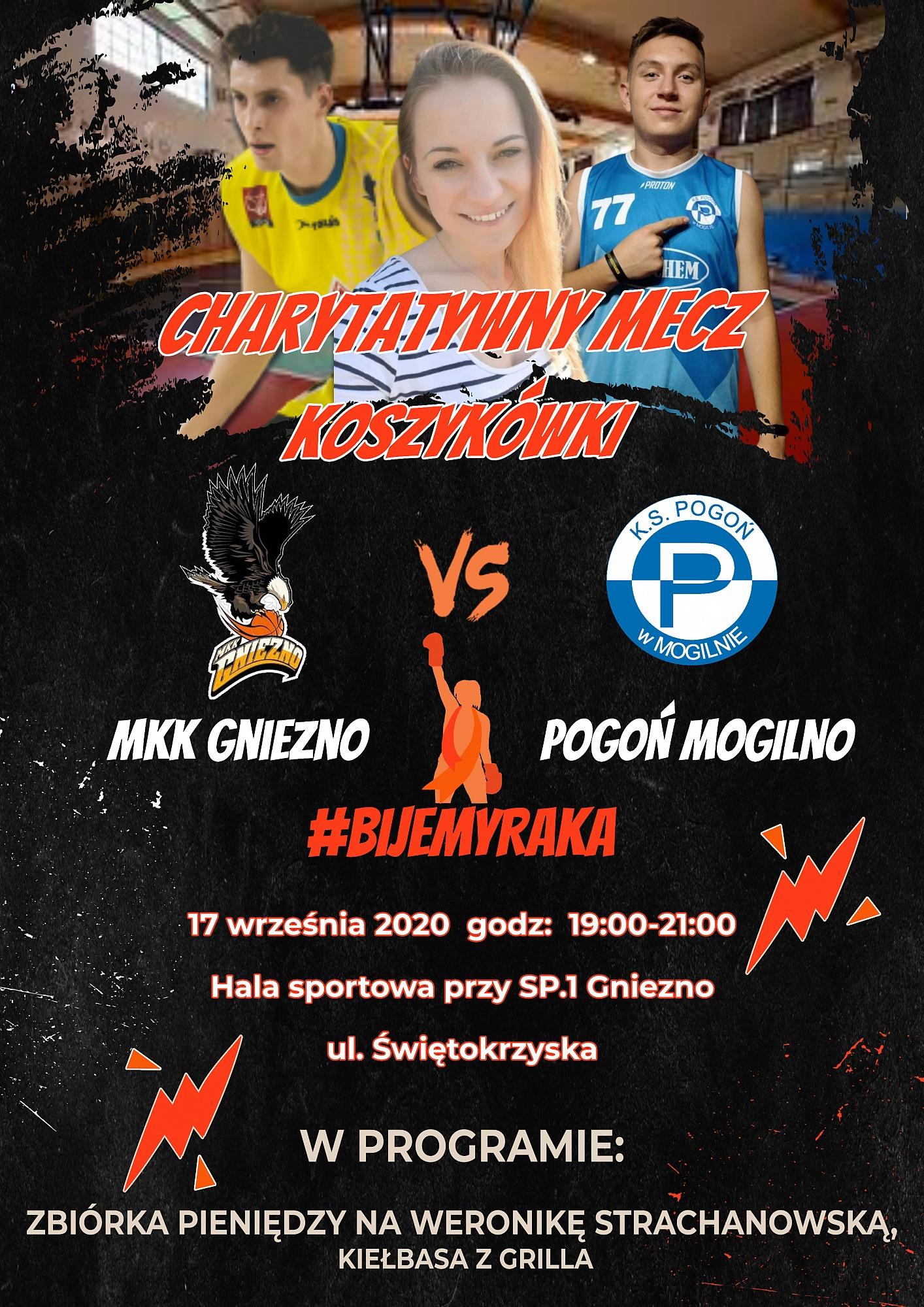 Charytatywny mecz koszykówki dla Weroniki