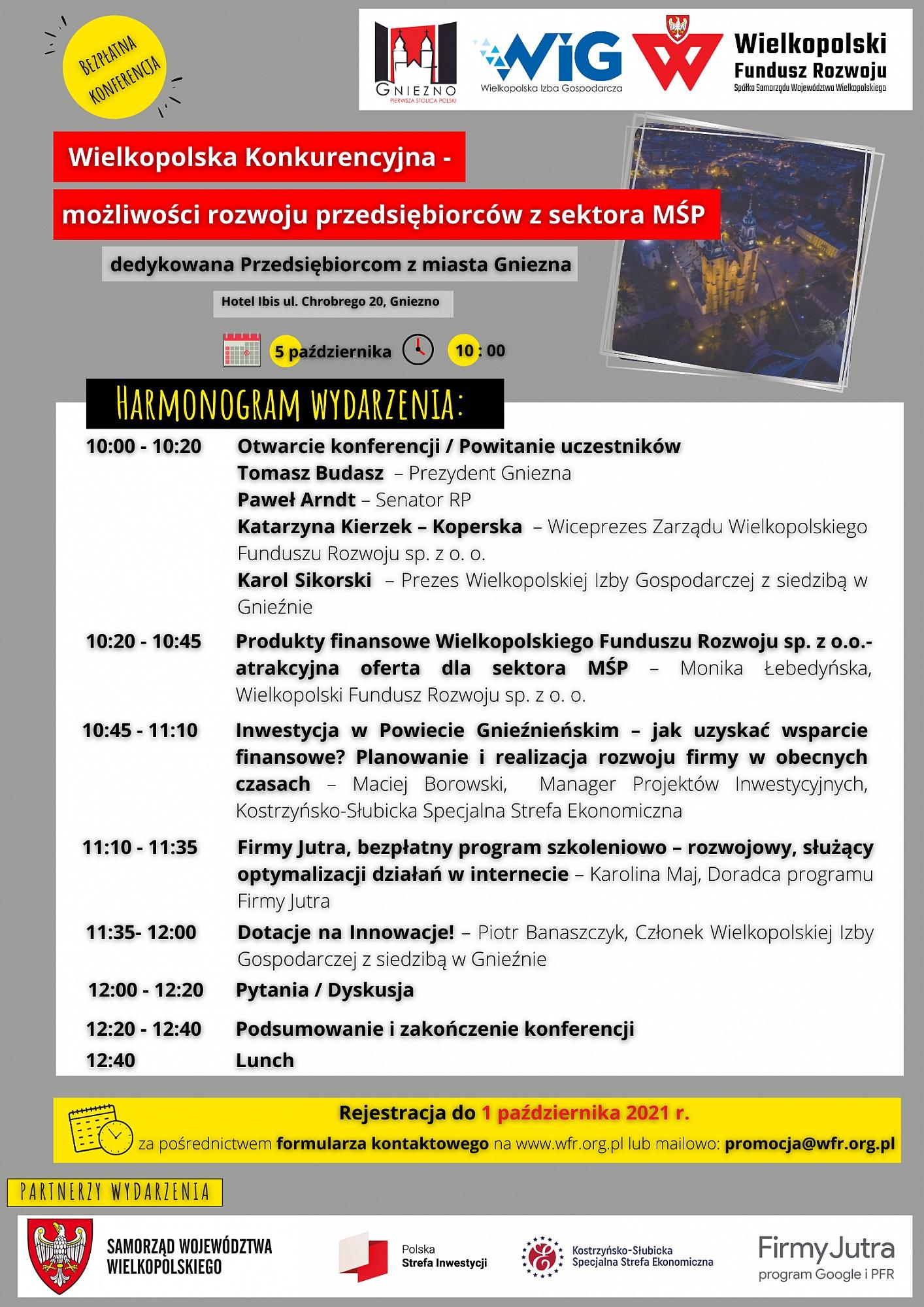 Wsparcie dla Wielkopolskich przedsiębiorców z sektora MŚP - zapisy na konferencję już trwają!