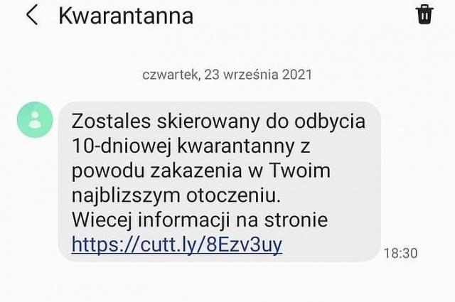 Uwaga na fałszywe SMS-y o skierowaniu na kwarantannę!